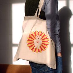 Ray the Robot Cotton Tote Bag