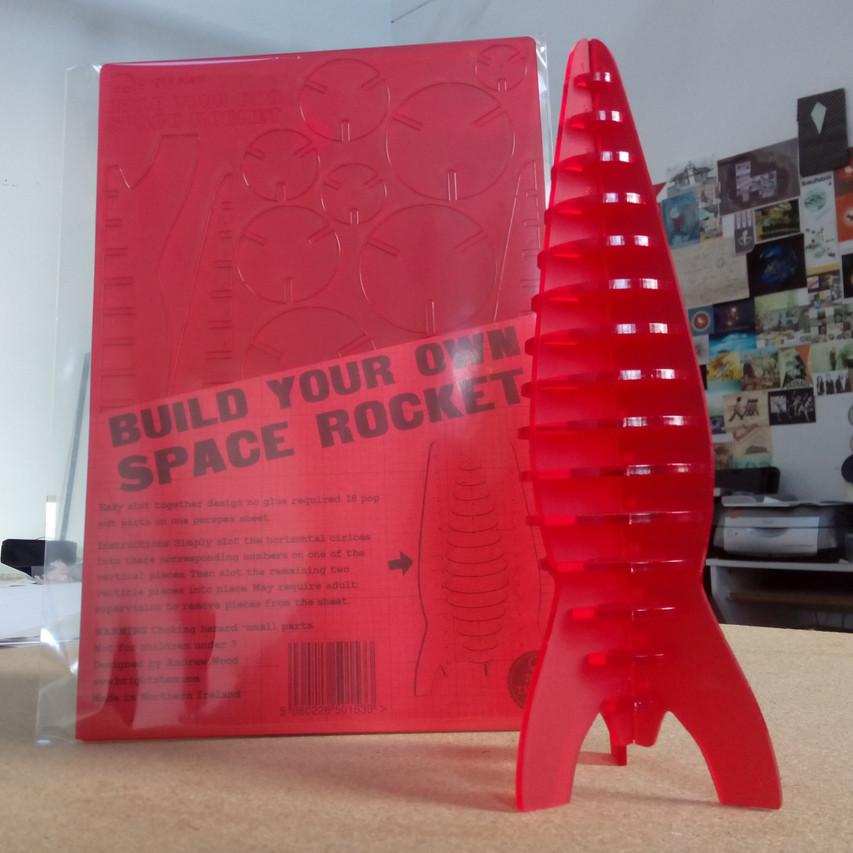 space rocket model pop out design