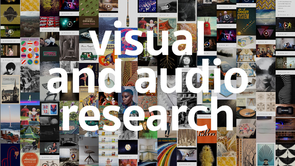 visual and audio research micro blog