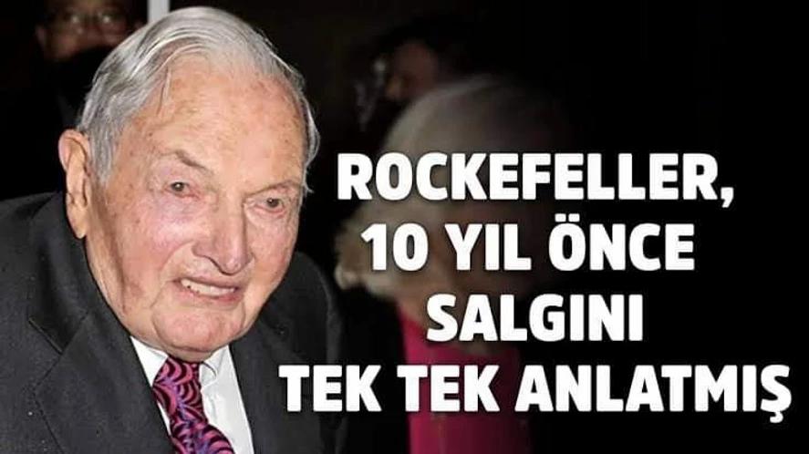 Rockefeller vakfı, 10 yıl önce salgını tek tek yazmış !
