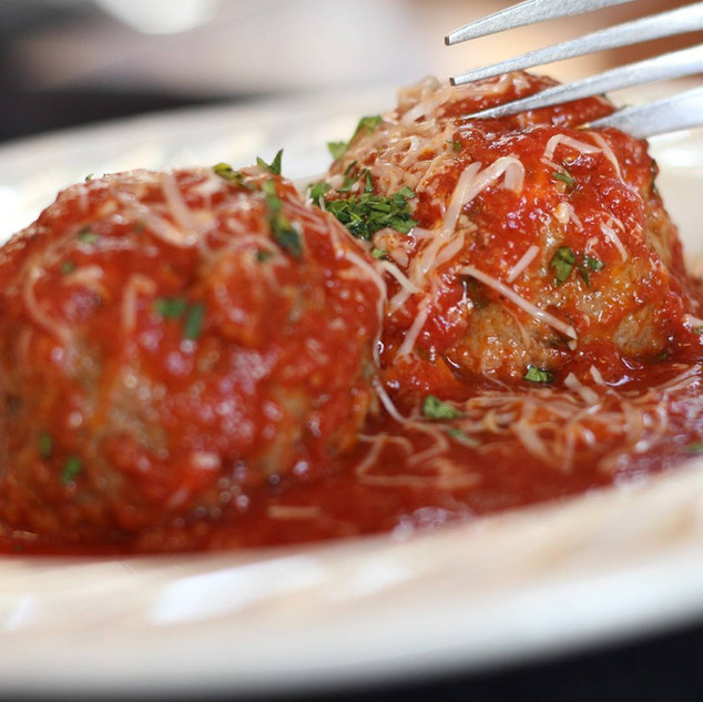Our famous homemade meatballs