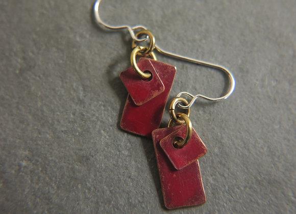 red copper earrings