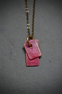 copper tag neclace