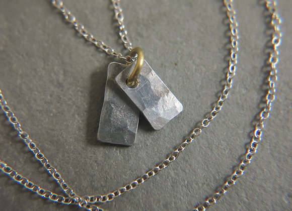 pewter necklace tags
