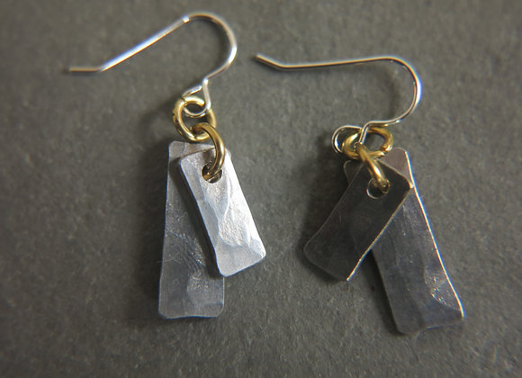 pewter earrings silver wires