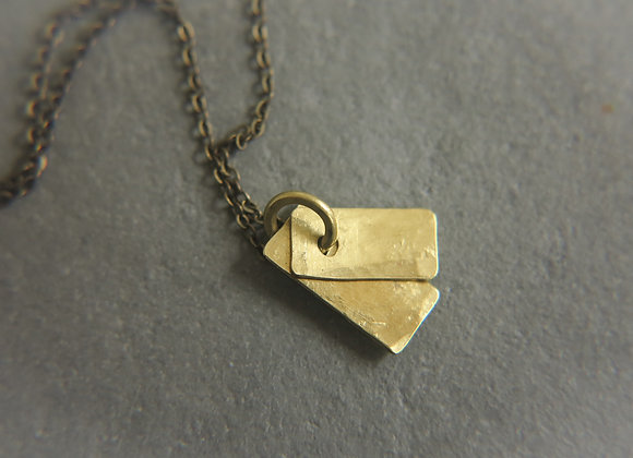 brass tags necklace