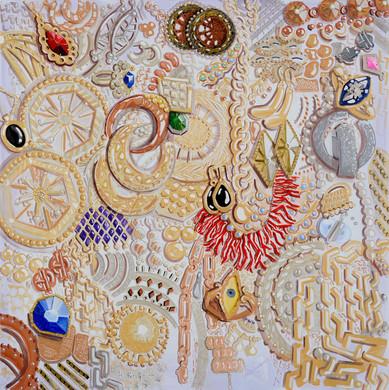 2.תיבת תכשיטים, 2019, אקריליק על בד, 195/197 ס''מ