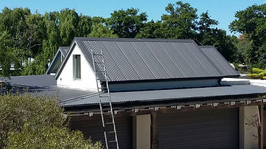 New IRB roofsheet installation