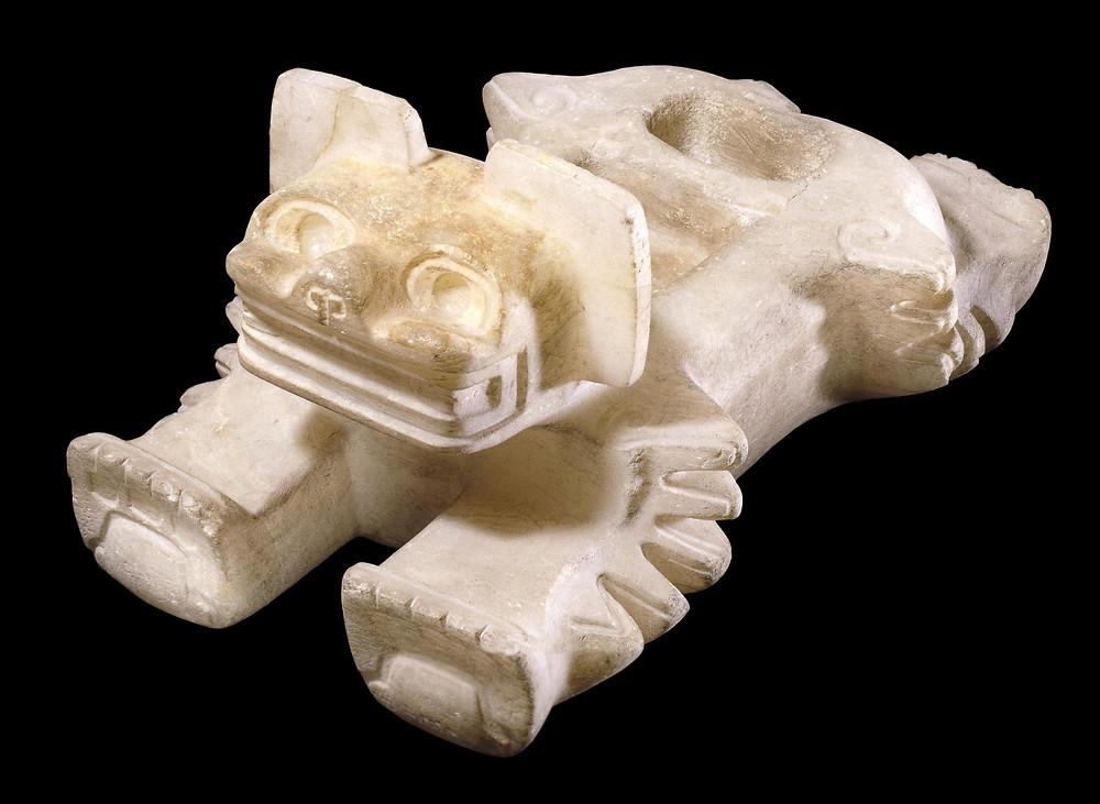 Ритуальный сосуд для сердец. Теотиуакан, 400-600 гг. н.э. Коллекция The British Museum.