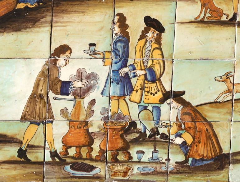 Дегуcтация шоколада. Неизвестный автор, 1710. Коллекция Design Museum of Barcelona