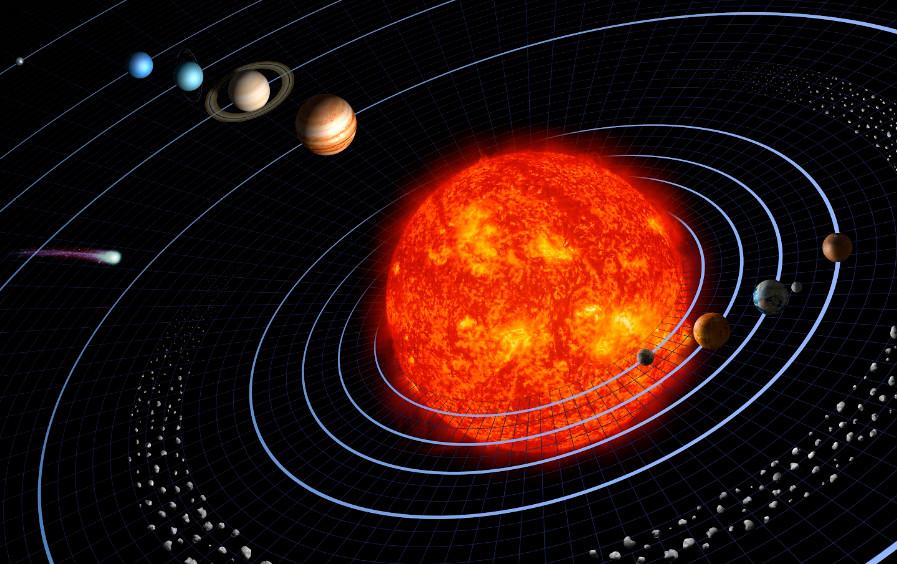 Модель солнечной системы. NASA.