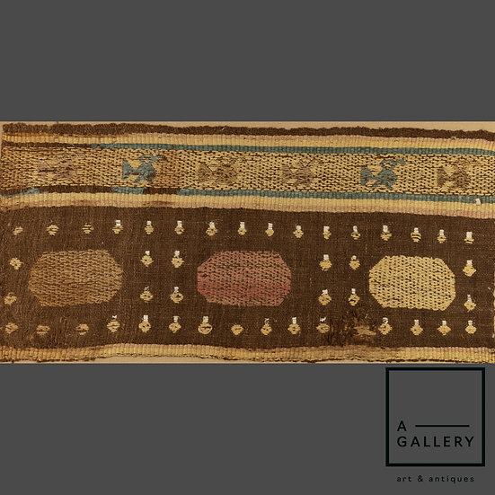 Фрагмент ткани, культура Чанкай (1100-1400 гг. н.э.)