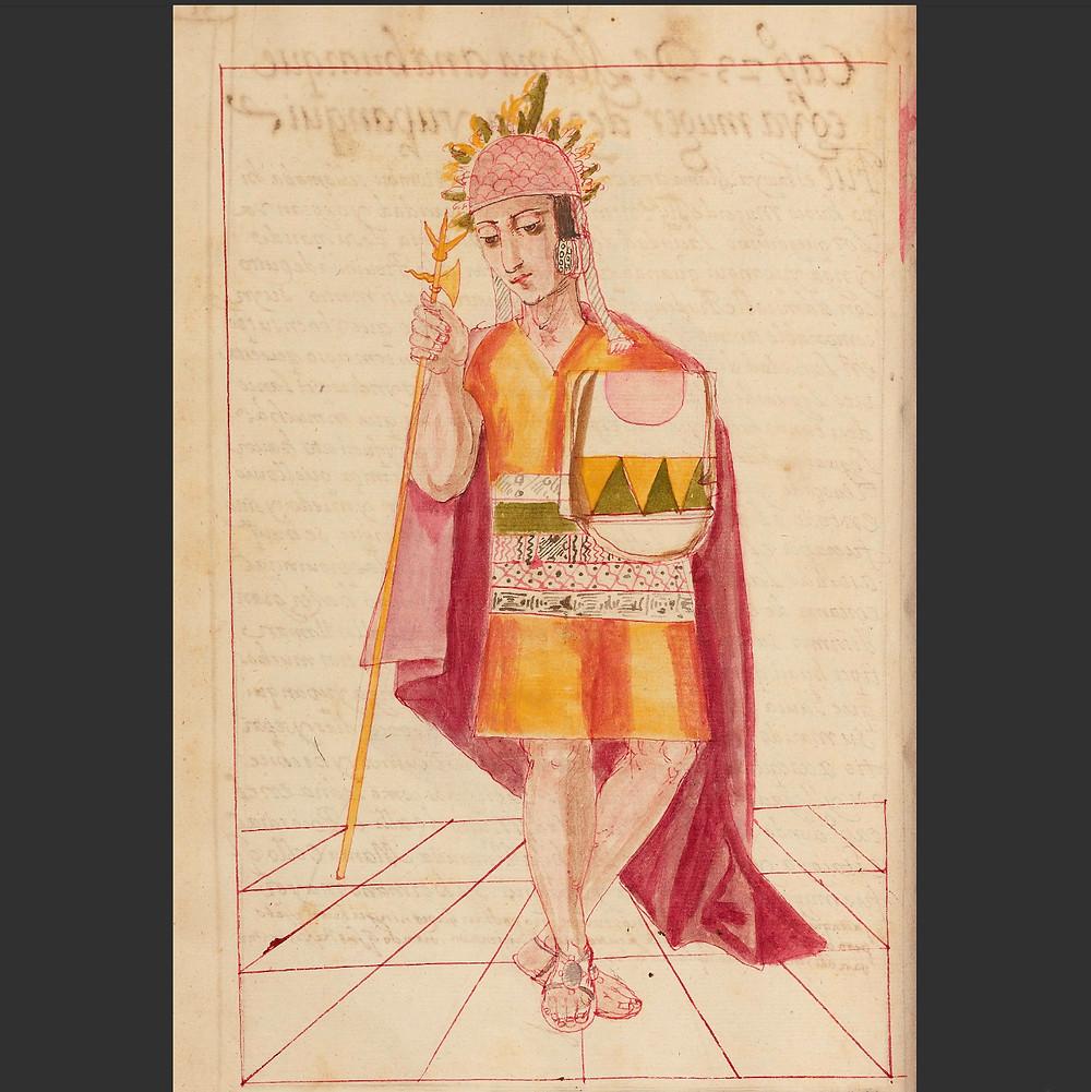 Тупак Инка Юпанки. Рисунок неизвестного автора, 1616 г. Коллекция The J. Paul Getty Museum, Los Angeles.