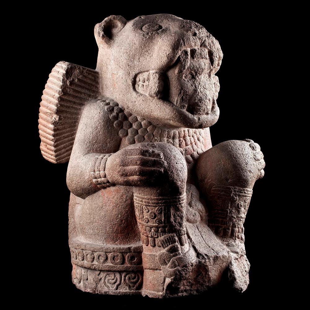 Тескатлипока (?), воин-ягуар. Мексика, 1250-1500 гг. н.э. Коллекция Museo Nacional de Antropologia, Мехико.