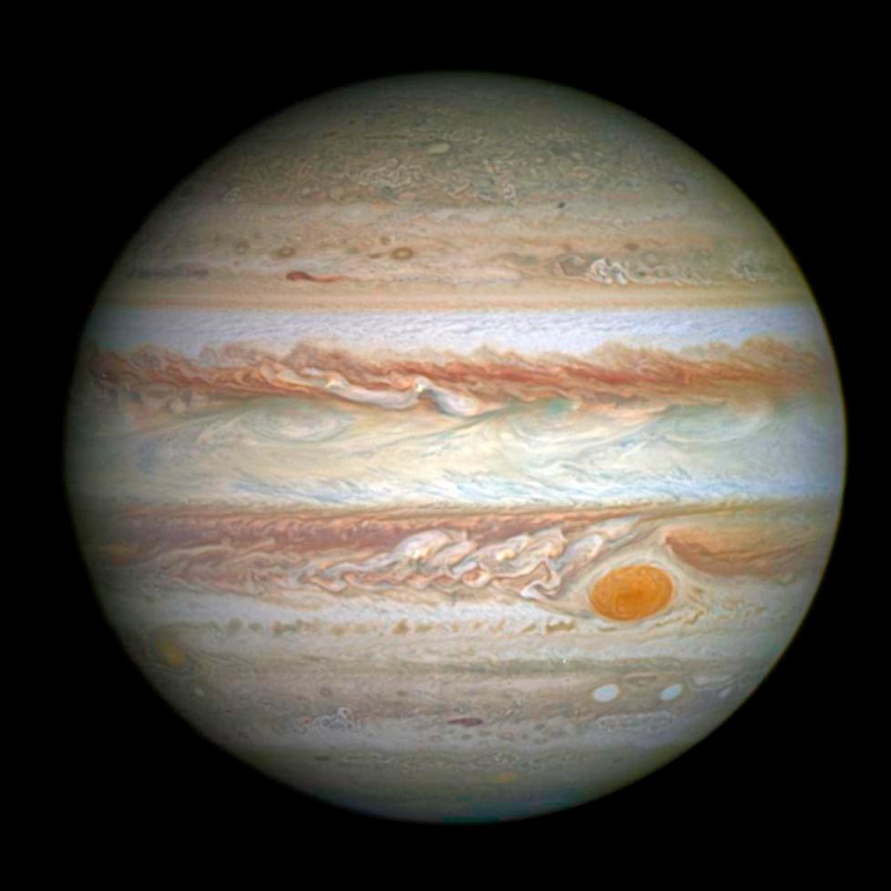 Снимок Юпитера с Космического телескопа Хаббл. 21 апреля 2014, NASA.