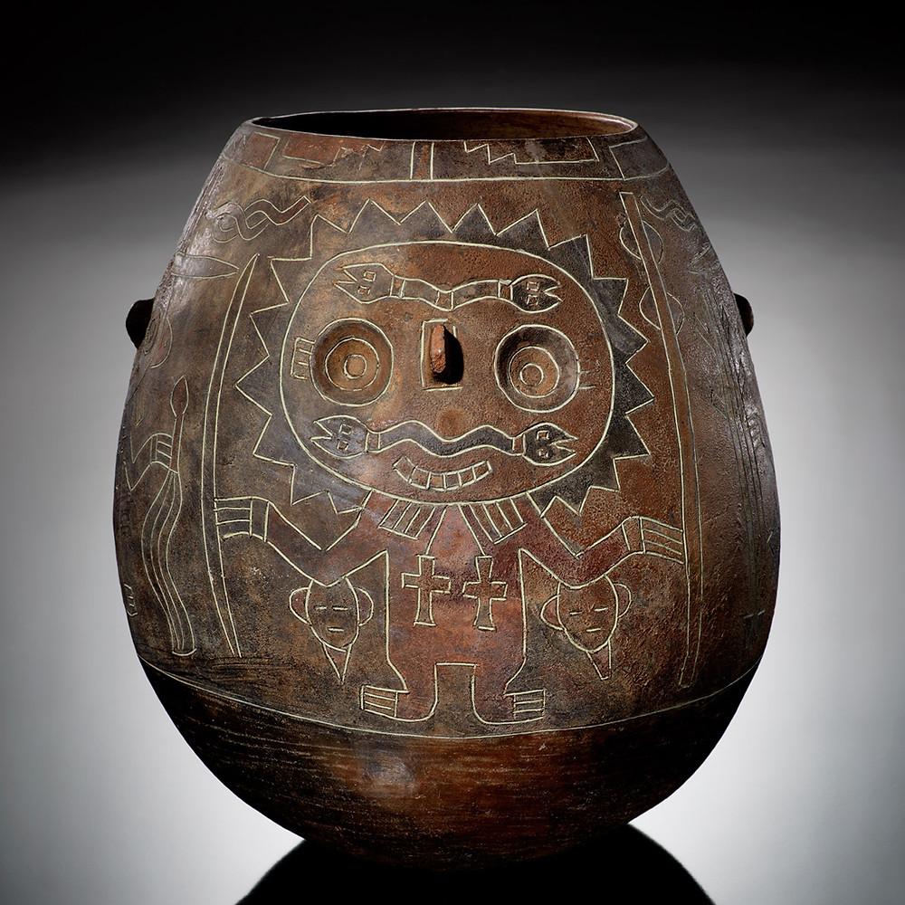Сосуд. Паракас, 200 г. до н.э. - 1 г. н.э. Коллекция The National Museum of the American Indian, New York.