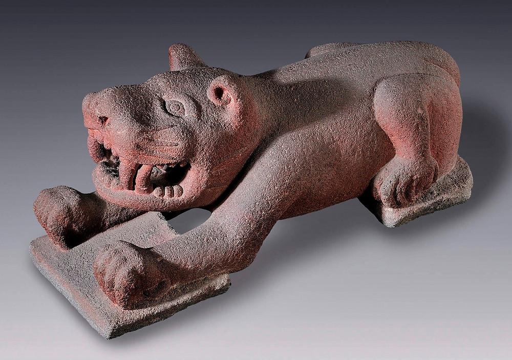 Хищная кошка. Мезоамерика, 1345-1521 гг. н.э. Коллекция Museo Amparo, Puebla.