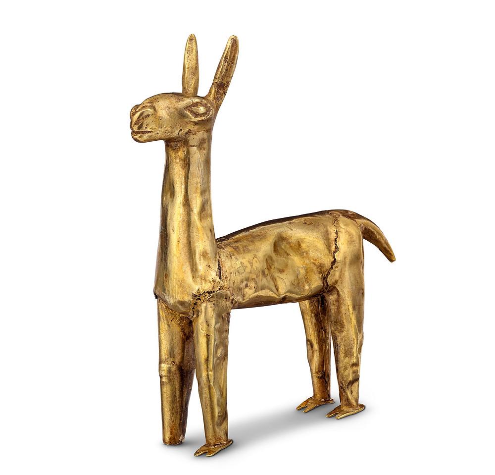 Фигура ламы, Инки. Коллекция Музея археологии и антропологии Пенсильванского университета, Филадельфия.