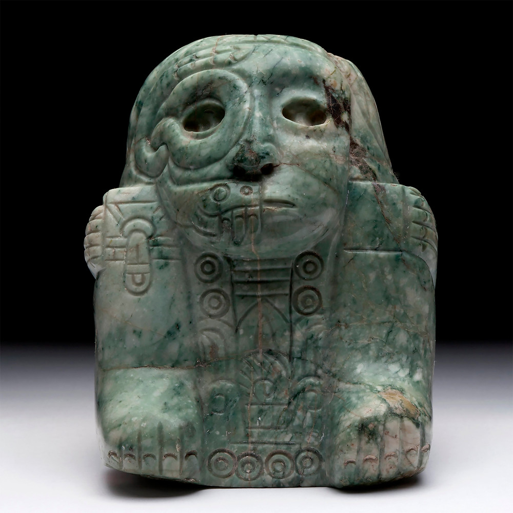 Двойное изображение Тлалока и Уицилопочтли (?). Мексика, 1250-1447 гг. н.э. Коллекция Museo Nacional de Antropologia, Мехико.