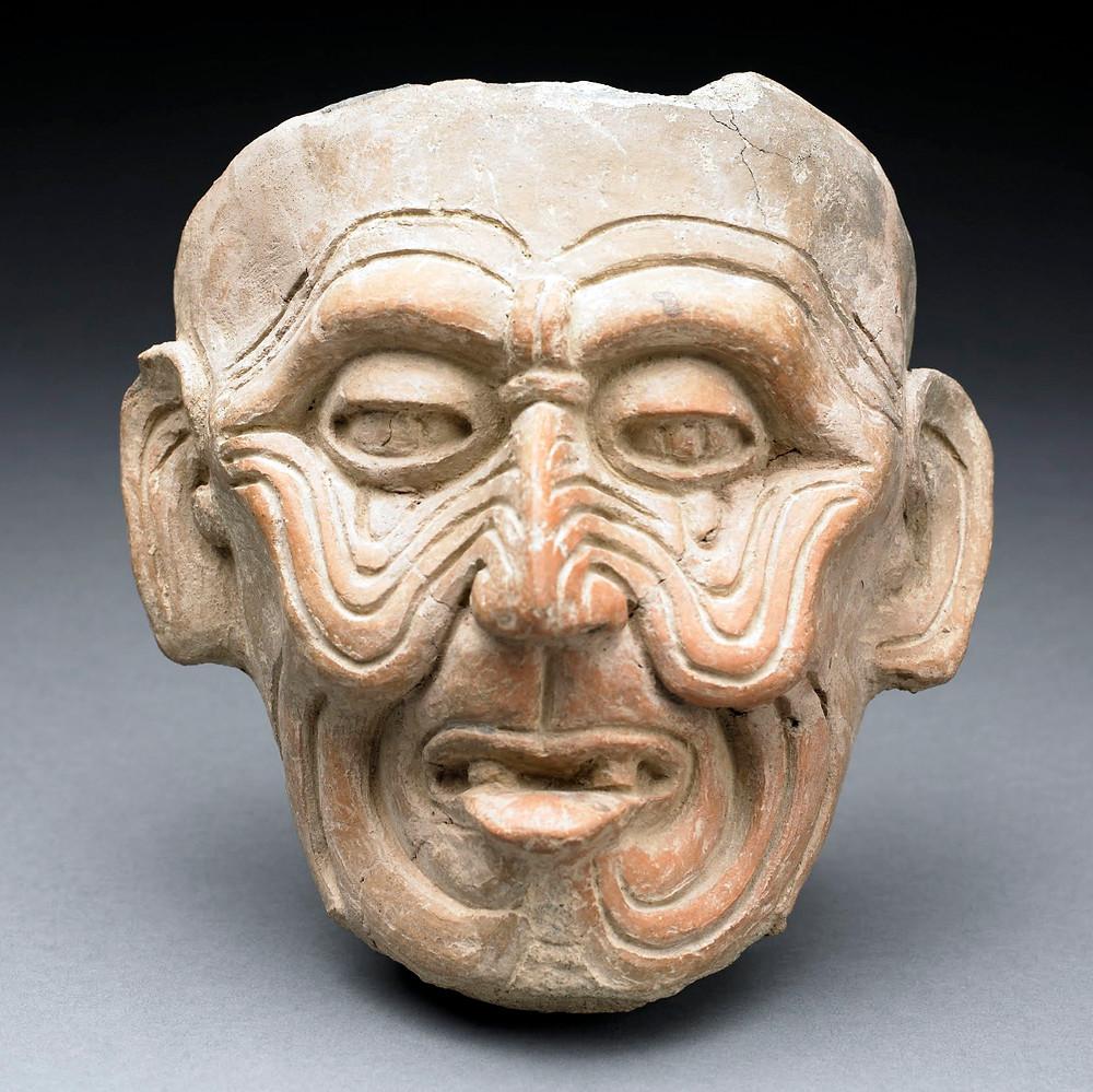 Голова Старого бога. Веракруз, 600-900 гг. н.э. Коллекция The Birmingham Museum of Art.