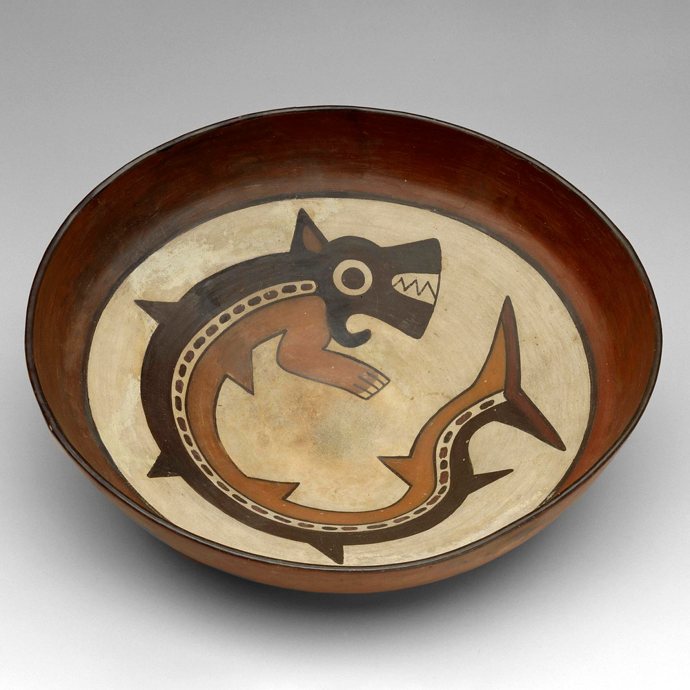 Блюдо. Наска, 100 гг. до н.э. - 700 гг. н.э. Коллекция Museum of Fine Arts, Houston.