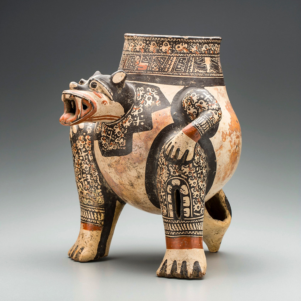 Сосуд в виде ягуара. Коста-Рика, 1000-1500 гг. н.э. Коллекция Detroit Institute of Arts.