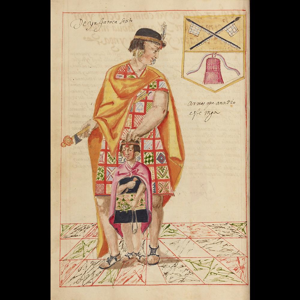 Правитель Инка Рока. Автор неизвестен, 1616. Коллекция J. Paul Getty Museum, Los Angeles.
