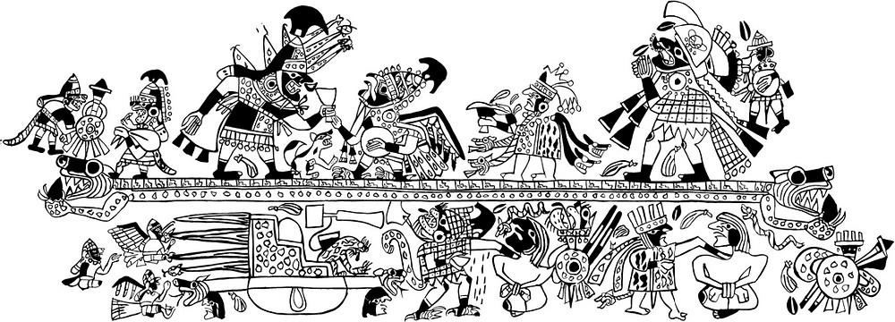 Развертка сосуда Моче. Изображение из библиотеки Dumbarton Oaks Research Library and Collection.