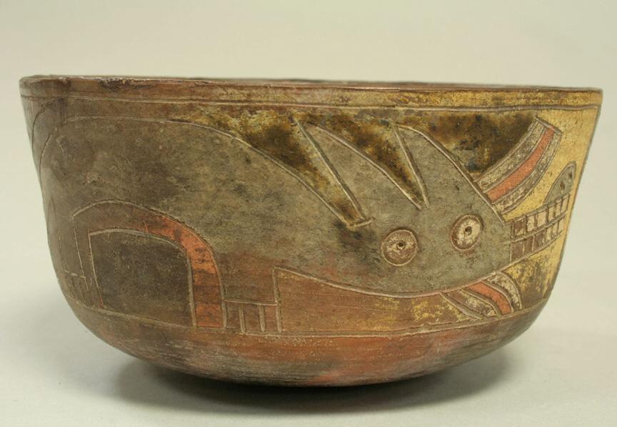 Сосуд с изображением лисы, Перу, Паракас, 3 в. до н.э. Коллекция The Metropolitan Museum of Art.