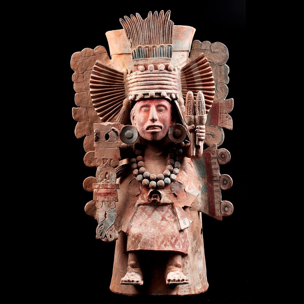 Жаровня с изображением Чальчиутликуэ. Мексика, 1325-1521 гг. н.э. Коллекция Museo Nacional de Antropologia, Мехико.