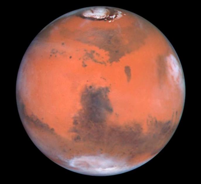 Снимок Марса с Космического телескопа Хаббл. 23 августа 1999, NASA.