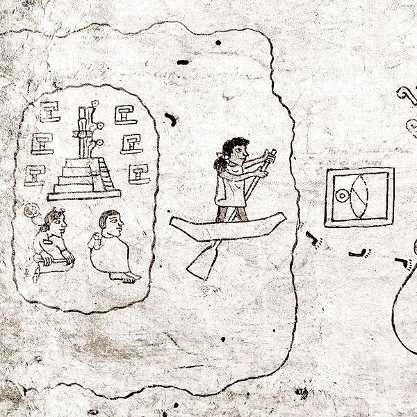 Кодекс Ботурини. Написан на бумаге аматль.  Коллекция Museo Nacional de Antropología, México.