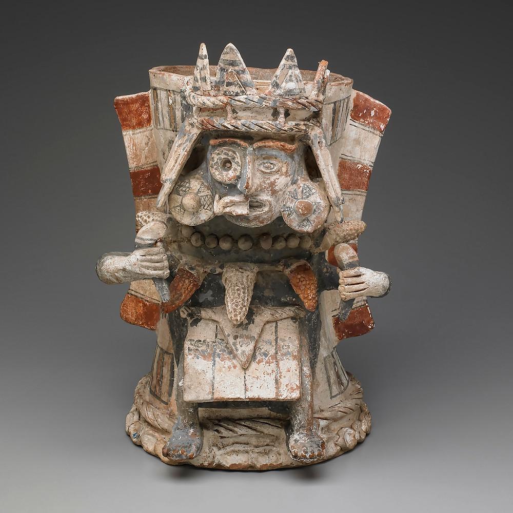 Жаровня с изображением Тлалока. Ацтеки, 1325-1521 гг. н.э. Коллекция Yale University Art Gallery.