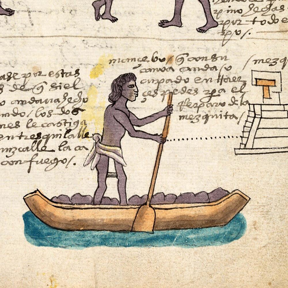 Фрагмент кодекса Мендоса. Коллекция Bodleian Library, Oxford.