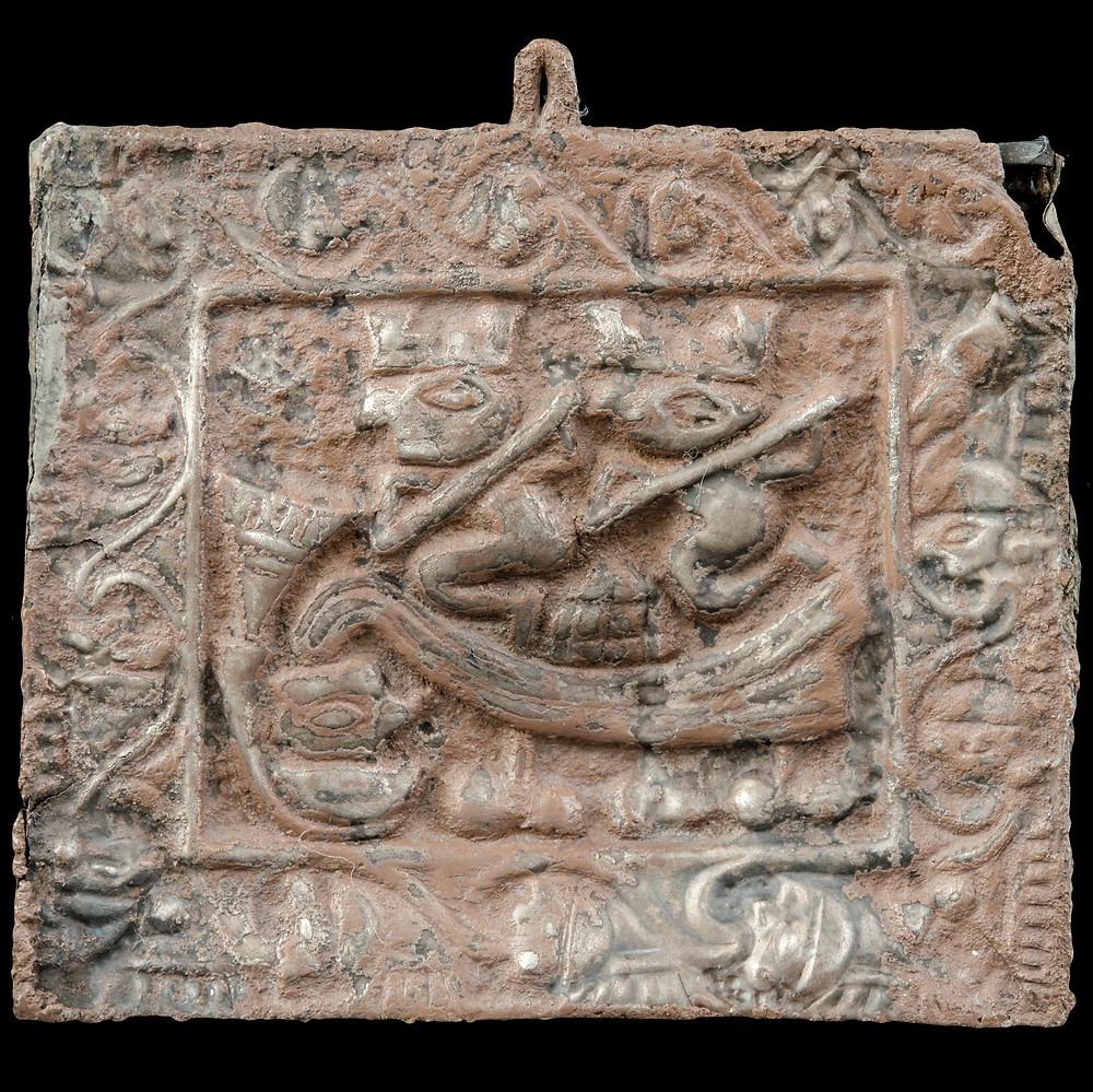 Серебряный кулон. Ламбаеке, 1000-1350 гг. н.э. Коллекция Museo de Arte de Lima.