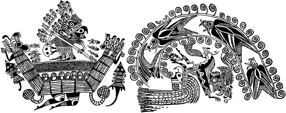Прорисовка сосуда. Создатели изображения: Christopher B. Donnan, Donna McClelland, Donald H. Изображение хранится в Dumbarton Oaks Research Library and Collection.