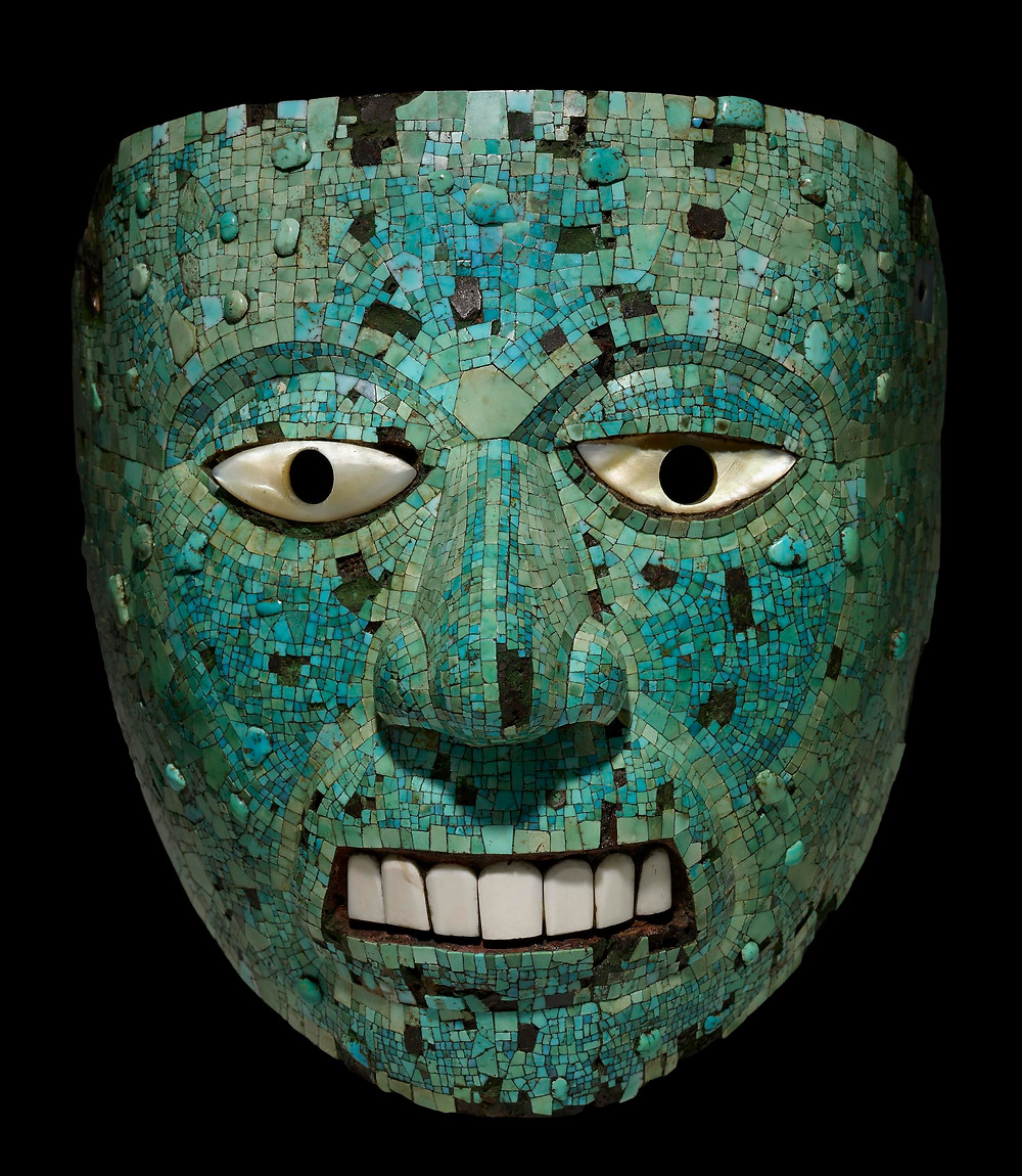 Маска Шиутекутли. Ацтеки, миштеки, 1400-1521 гг. н.э. Коллекция The British Museum.