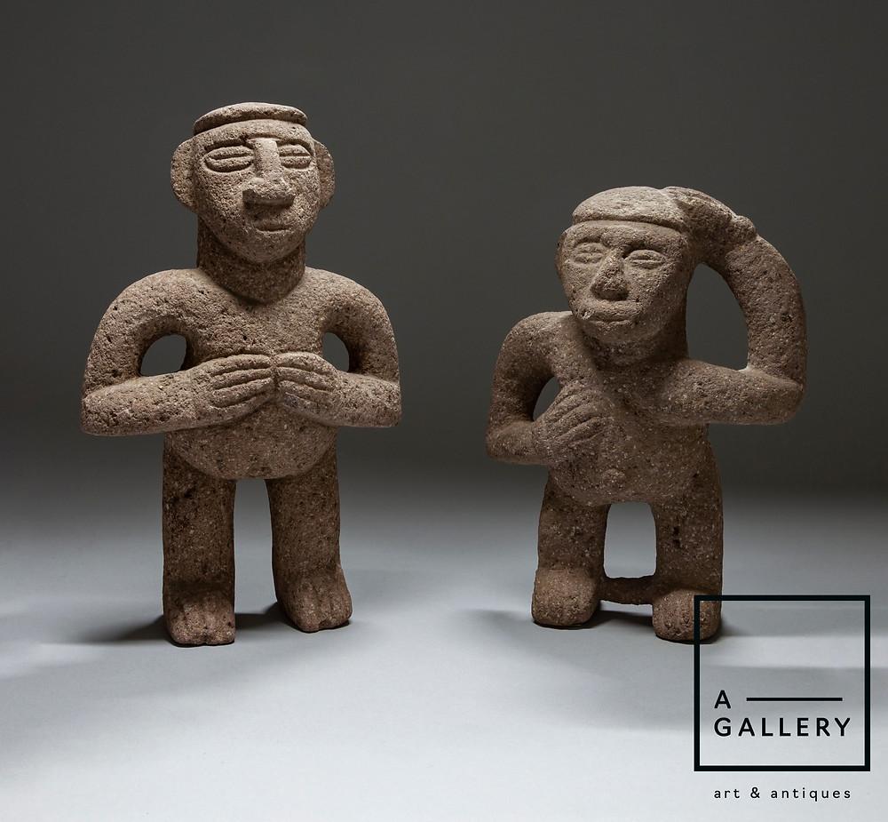 Скульптуры духов-хранителей домашнего очага. Коста-Рика, побережье Карибского моря, 1000-1500 гг. н.э. Коллекция A-Gallery, Москва.