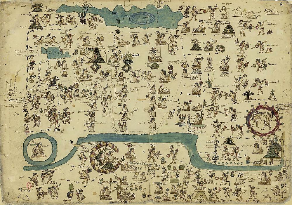 Histoire de la nation chichimèque, depuis l'empereur Amacui Xolotl jusqu'à Nezahualcoyotl (963-1428) d'après l'interprétation du chroniqueur don Fernando de Alva Ixtlilxochitl. Copie exécutée par León y Gama. Стр. 4.