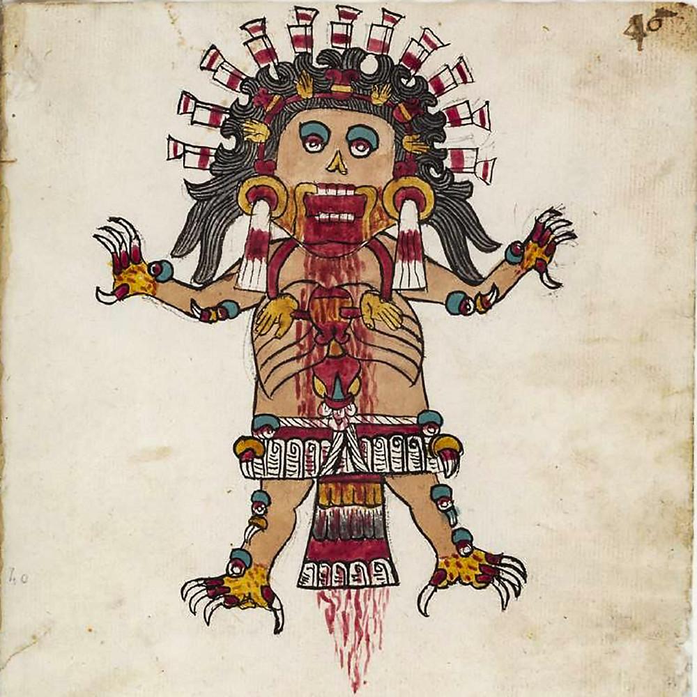 Цицимиме. Фрагмент Кодекса Тудела. Коллекция Museo de América, Madrid.