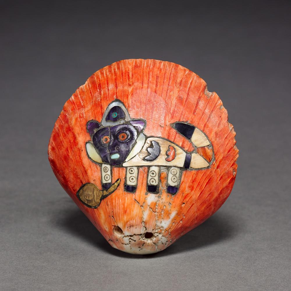 Раковина с инкрустациями. Наска, 100 г. до н.э. - 700 г. н.э. Коллекция Cleveland Museum of Art.