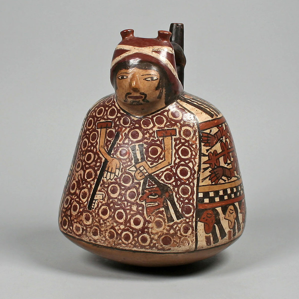 Фигурный сосуд. Наска, 4-6 вв. н.э. Коллекция The Metropolitan Museum of Art.