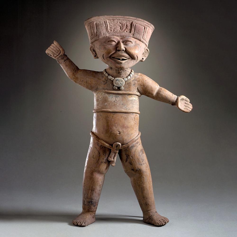 Мужчина, предположительно, в состоянии опьянения. Веракрус, 600-900 гг. н.э. Коллекция Los Angeles County Museum of Art.