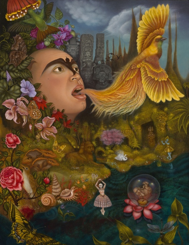 Xochipilli's ecstatic universe, 2004. Tino Rodriguez. Коллекция Crocker Art Museum, California.
