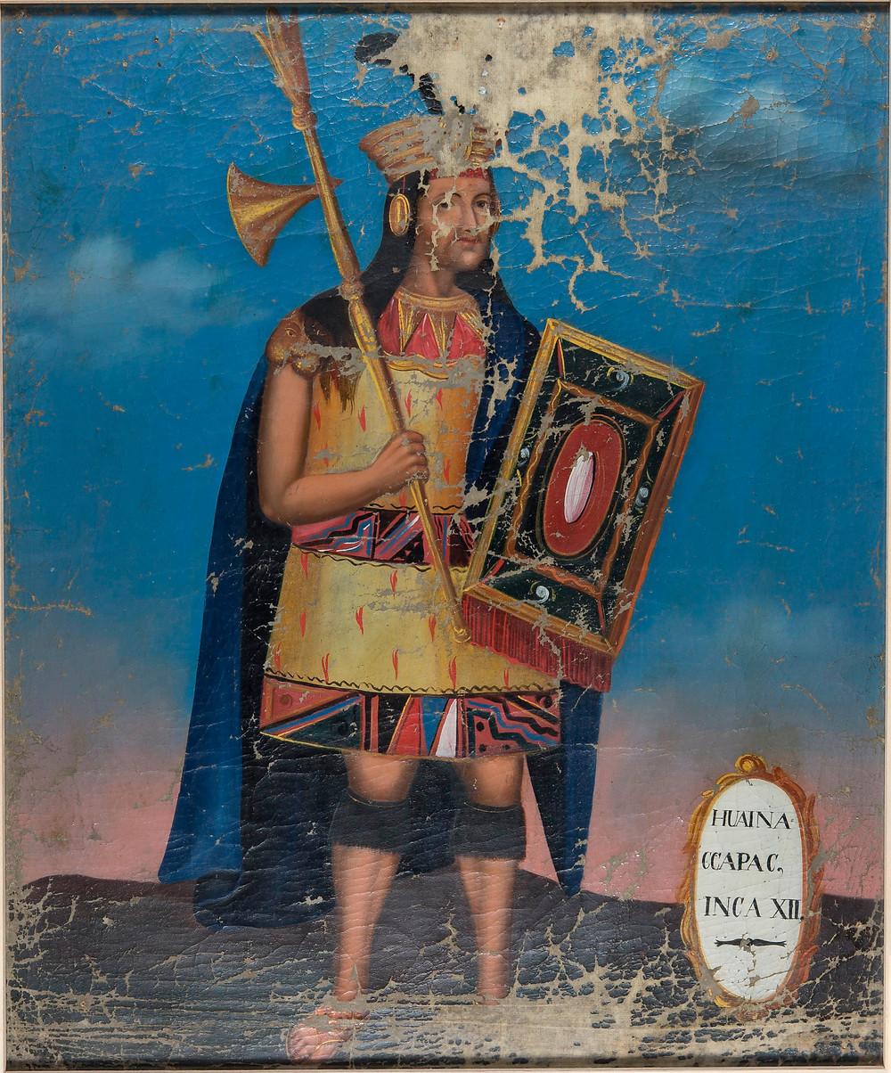 Уайна Капак. Неизвестный автор, вероятно 18 в. Коллекция Museum of Ethnology Hamburg.