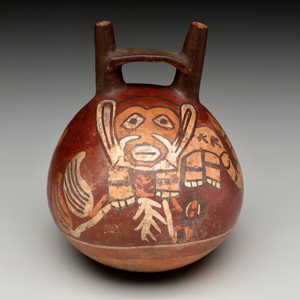 Сосуд. Наска, 50 г. до н.э. - 300 г. н.э. Коллекция Dallas Museum of Art.