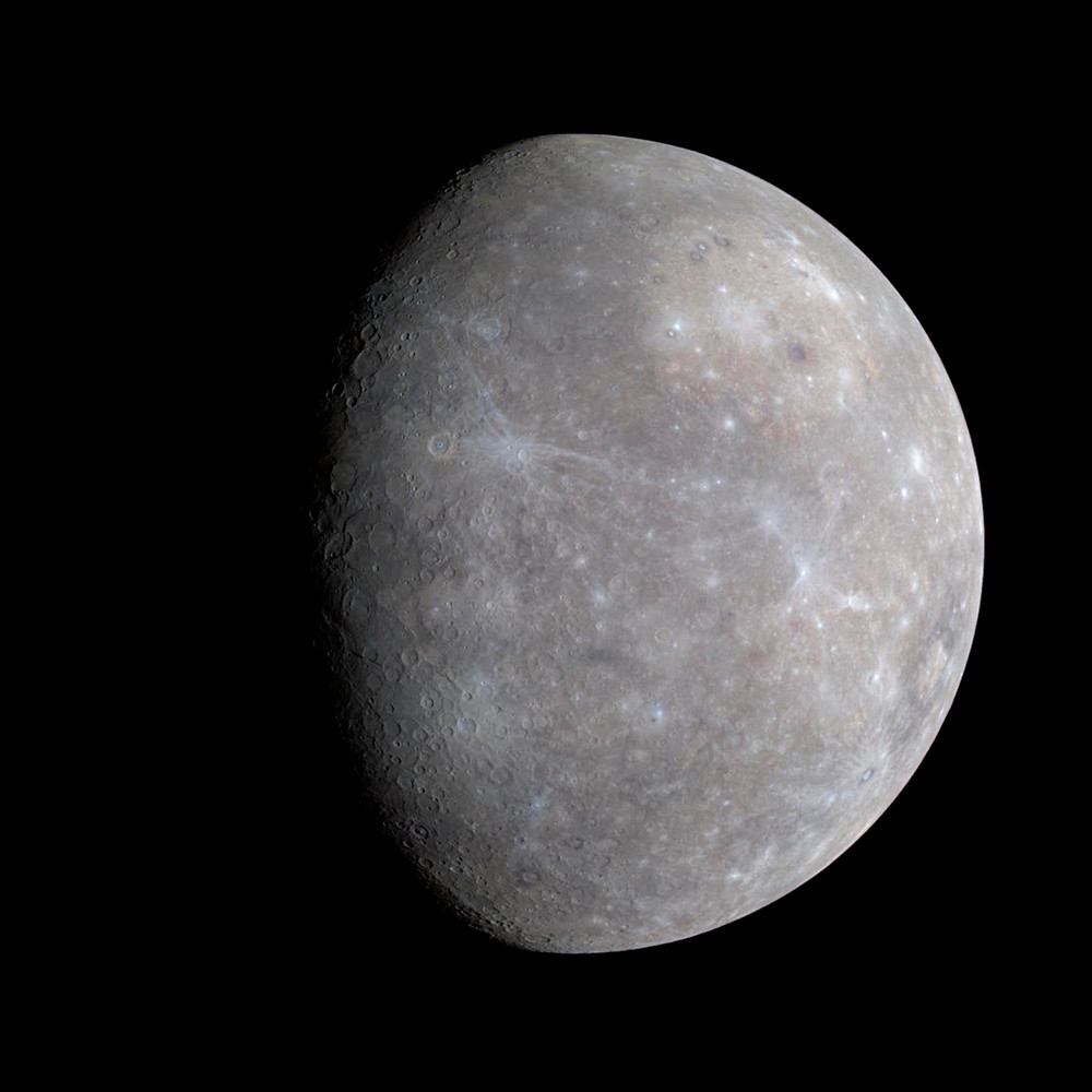Снимок поверхности Меркурия. Источник Carnegie Institution of Washington, NASA.