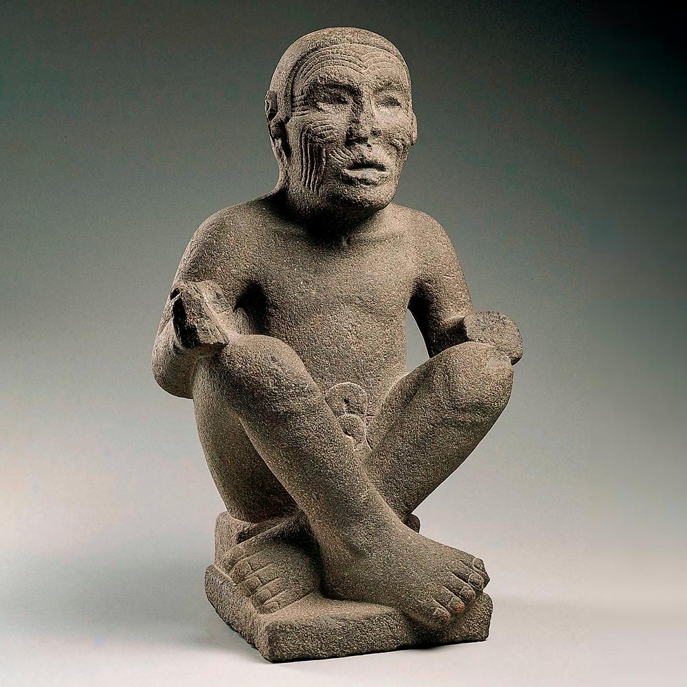 Старый бог. Ацтеки, примерно 1500 гг. н.э. Коллекция Kimbell Art Museum, Форт-Уэрт, Техас.