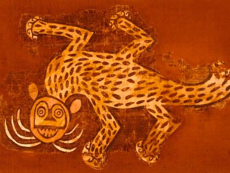 Загадочные образы обезьян-кошек на древних тканях Южной Америки