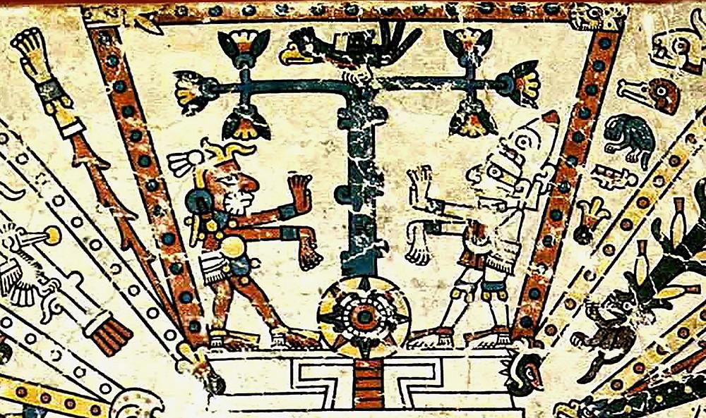 Восток. Фрагмент кодекса Фейервари-Майера. Ацтеки. Коллекция World Museum, Ливерпуль.